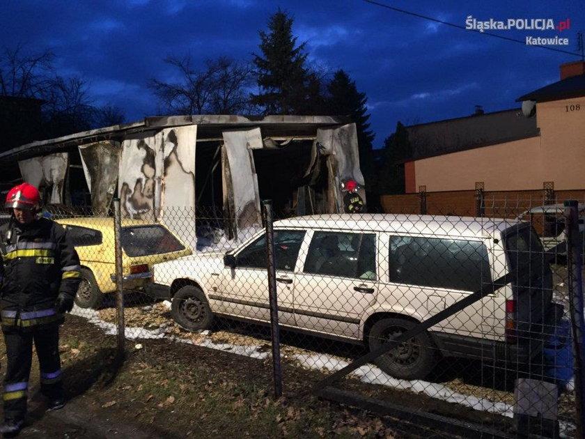 Pożar w warsztacie samochodowym