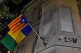 Novi Sad237 zastava Katalonije na zgradi lige socijlademokrata Vojvodine LSV foto Nenad Mihajlovic