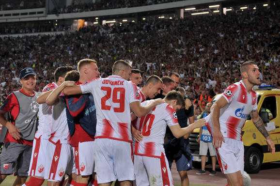 Fudbaleri Crvene zvezde slave ulazak u Ligu šampiona