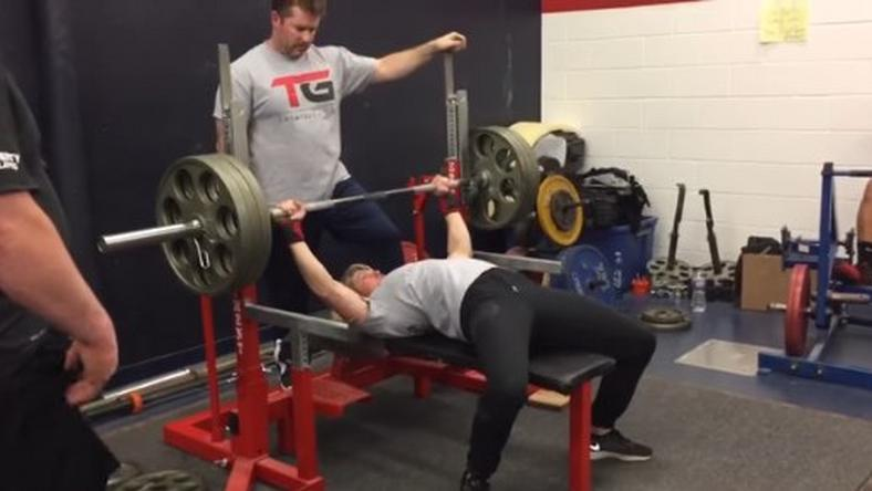 132-Pound Woman Bench Presses.