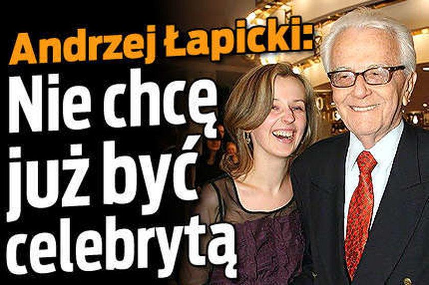 Łapicki nie chce już być celebrytą