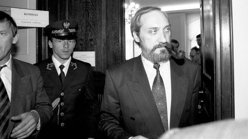 Antoni Macierewicz. W czerwcu 1992 roku był szefem MSW