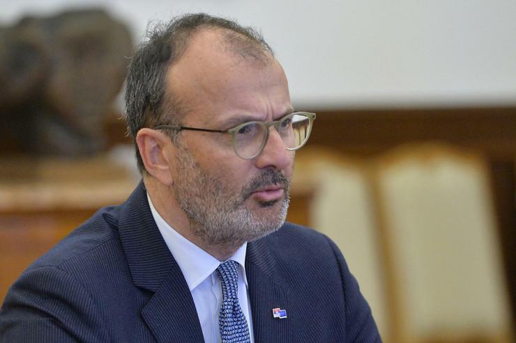 Aleksandar Vučić, šef Delegacije EU u Srbiji Sem Fabrici