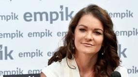 Agnieszka Radwańska na promocji swojej książki. Wszyscy patrzyli tylko na nogi