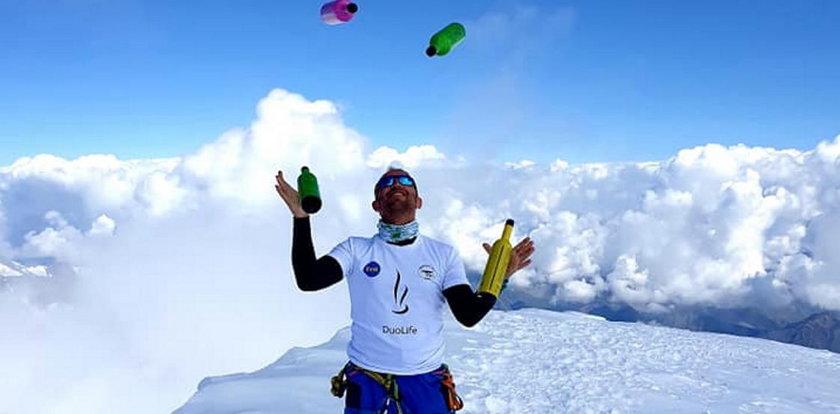 Chce wejść na Mount Everest i wykonać żonglerkę butelkami
