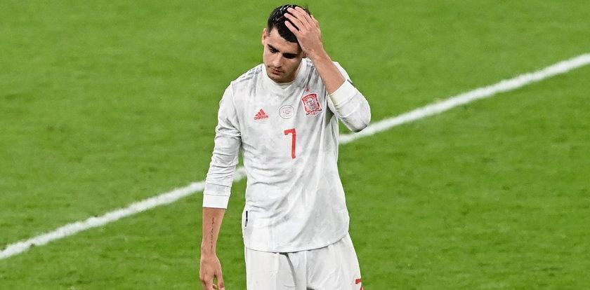 Alvaro Morata odebrał nadzieję Hiszpanii. Napastnik miał turniej jak z koszmaru