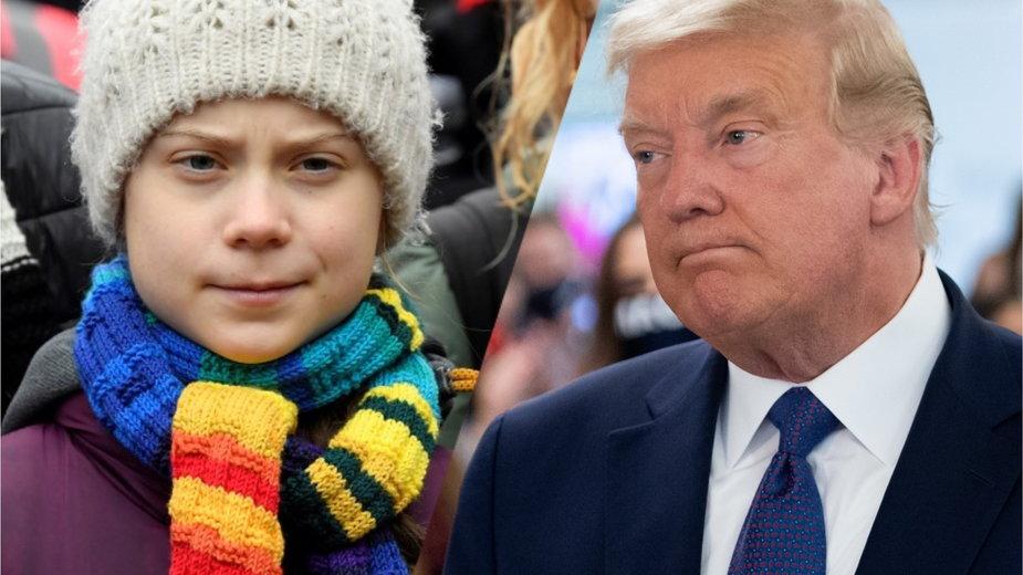Greta Thunberg i Donald Trump