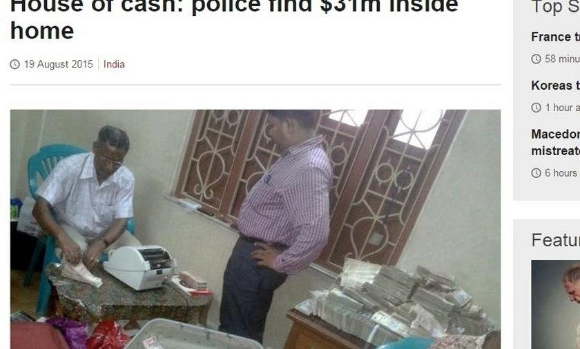 Pieniądze w mieszkaniu