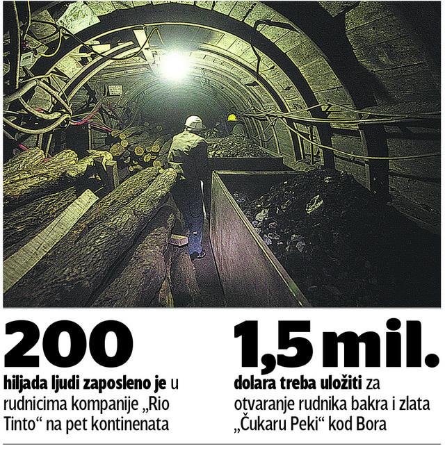 Rudokop kod Bora trebalo bi da bude otvoren do 2021. godine