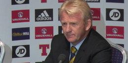 Trener Szkotów: Przy pierwszym golu być może był spalony