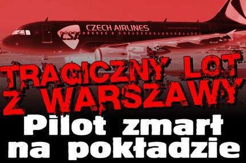Tragiczny lot z Warszawy. Pilot zmarł na pokładzie