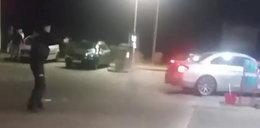 Demolowała na oczach policjantów stację paliw, jeden z nich oddał strzały. Policjanci ukarani
