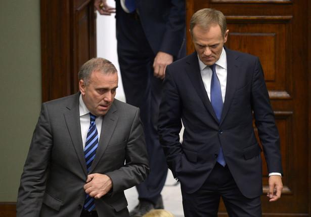 Grzegorz Schetyna i Donald Tusk PAP/Radek Pietruszka