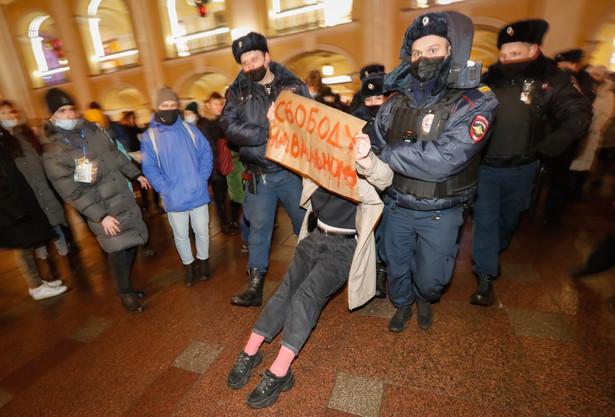 Protest po aresztowaniu Nawalnego