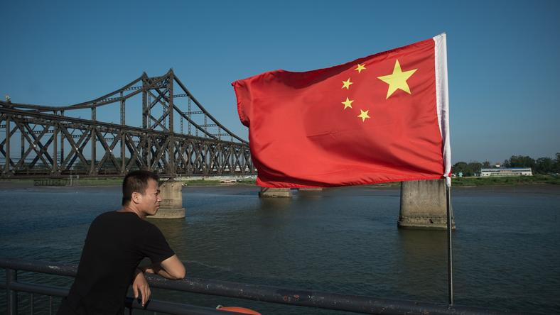 Rzeka Yalu na granicy Korei Północnej i Chin