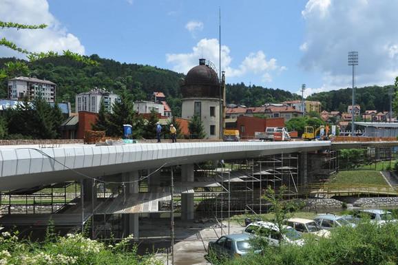 Radovi na petlji Ložionički most u Užicu