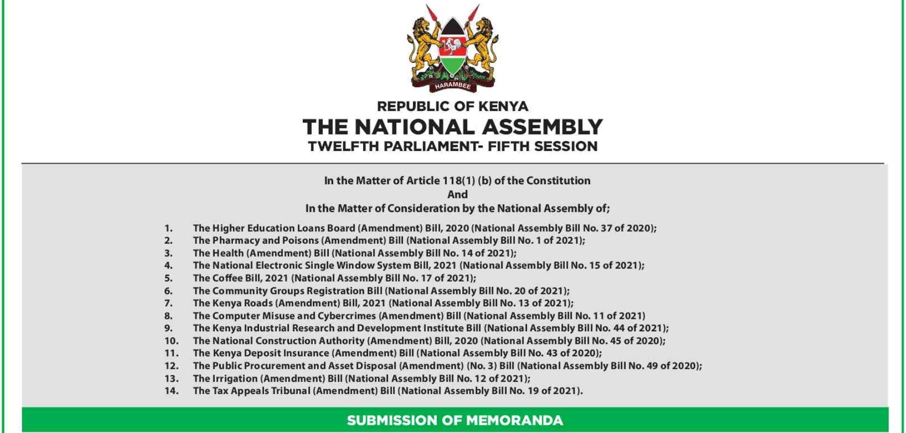 Kenyans invited to give comments on the proposed Computer Misuse and Cybercrimes (Amendment) Act Bill
