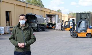 Morawiecki: Coraz więcej materiałów ochronnych pochodzi z polskiej produkcji
