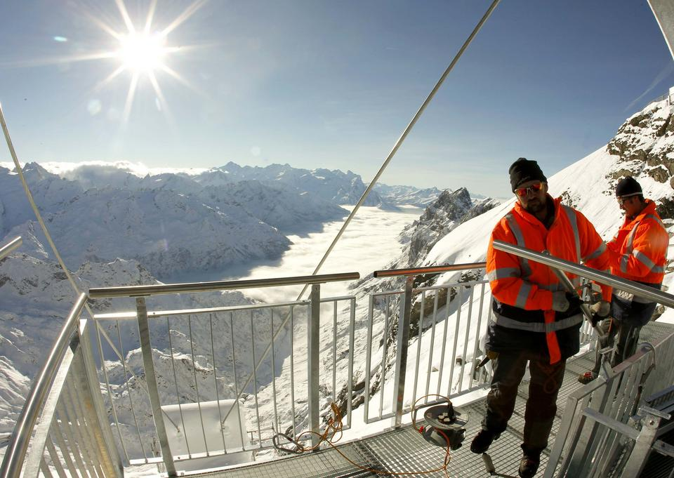 Szwajcaria - Titlis Cliff Walk