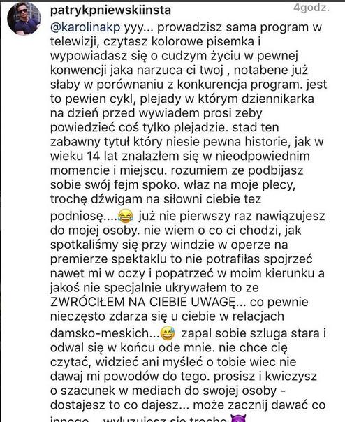 wpis Patryka Pniewskiego