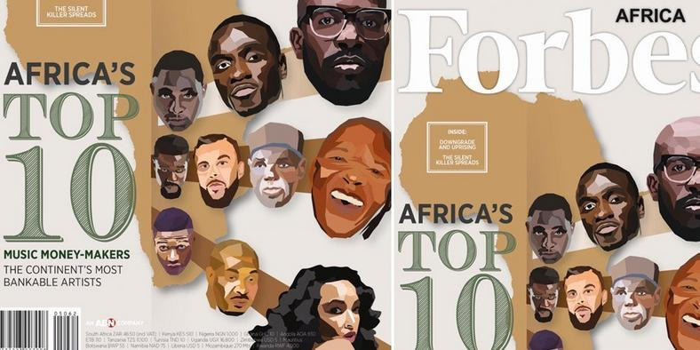 These four Nigerian acts can be found on the list of the top 10 bankable musicians in Africa in 2017, according to Forbes