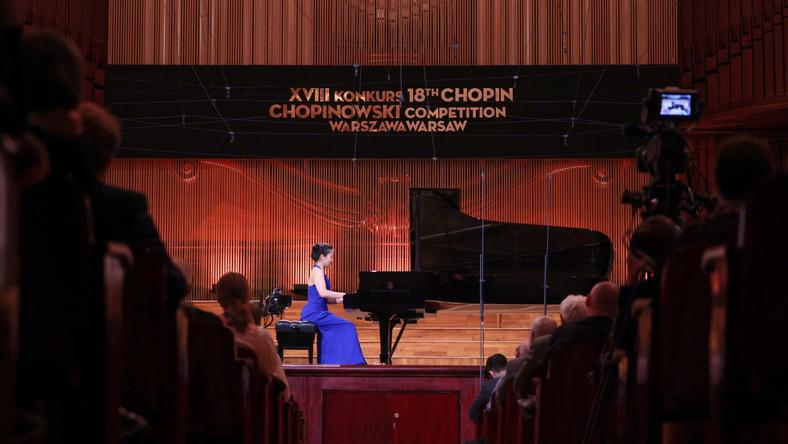 Chińska pianistka Jiana Peng podczas I etapu Konkursu Chopinowskiego
