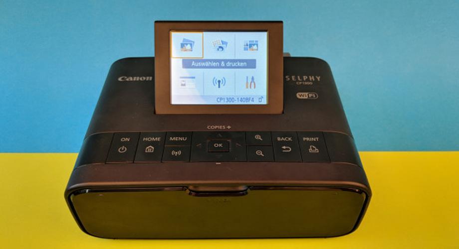 Canon Selphy CP1300 im Test: Fotodrucker mit Akku