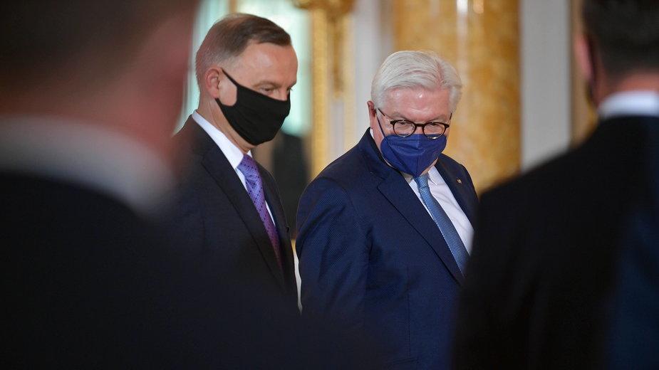 Prezydent Polski Andrzej Duda i prezydent  Niemiec Frank-Walter Steinmeier