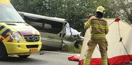 Tragiczny wypadek polskiego busa w Holandii. Nie żyje kierowca
