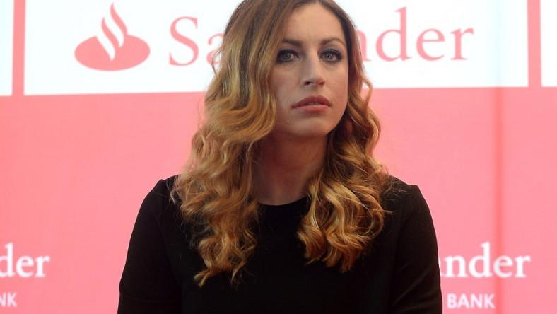 Sportsmenka zaprezentowała nowy kolor włosów na wczorajszej konferencji prasowej...