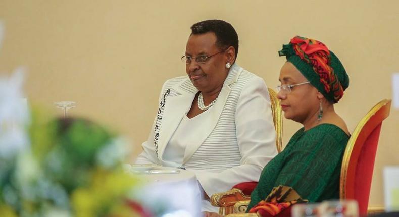 Janet Museveni and Margaret Kenyatta