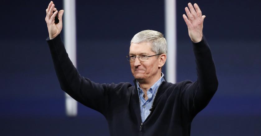 Tim Cook, prezes Apple. Jego firma zamierza niebawem rozpocząć testy nowej technologii przesyłania danych