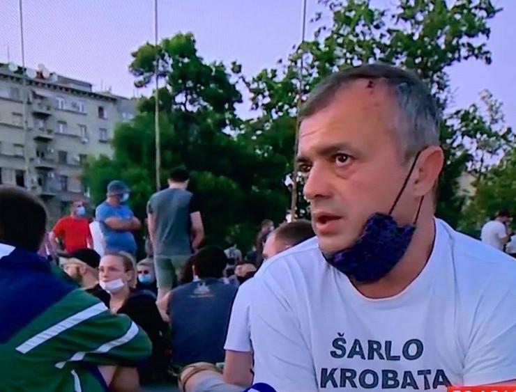 Sergej Trifunović, protest 3 dan