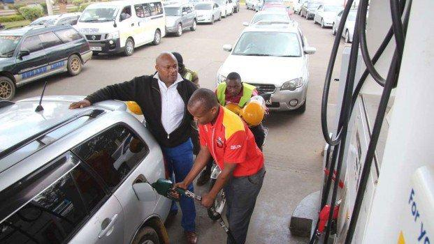 Kenyan motorist at a fuel station
