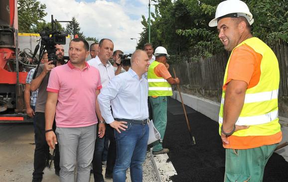 Goran Vesić u obilasku radova