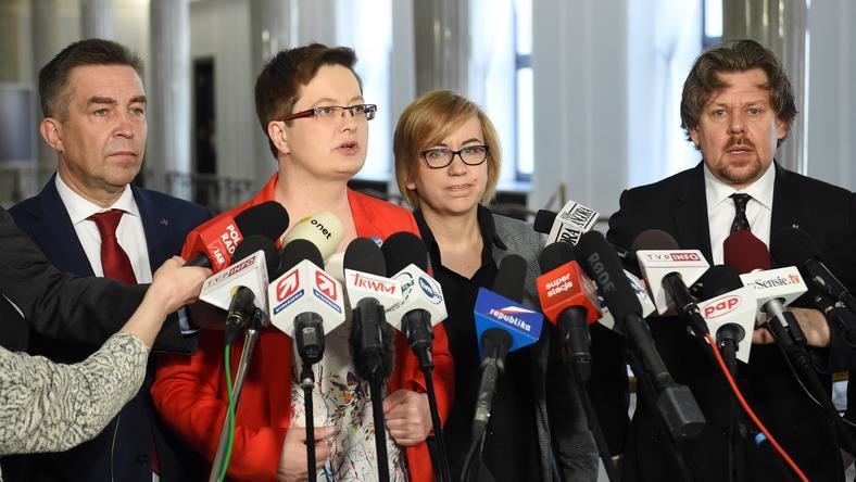 Od lewej: Zbigniew Gryglas, Katarzyna Lubnauer, Paulina Hennig-Kloska, Piotr Misiło