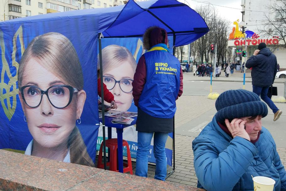 Presidential candidate Yulia Tymoshenko election campaign