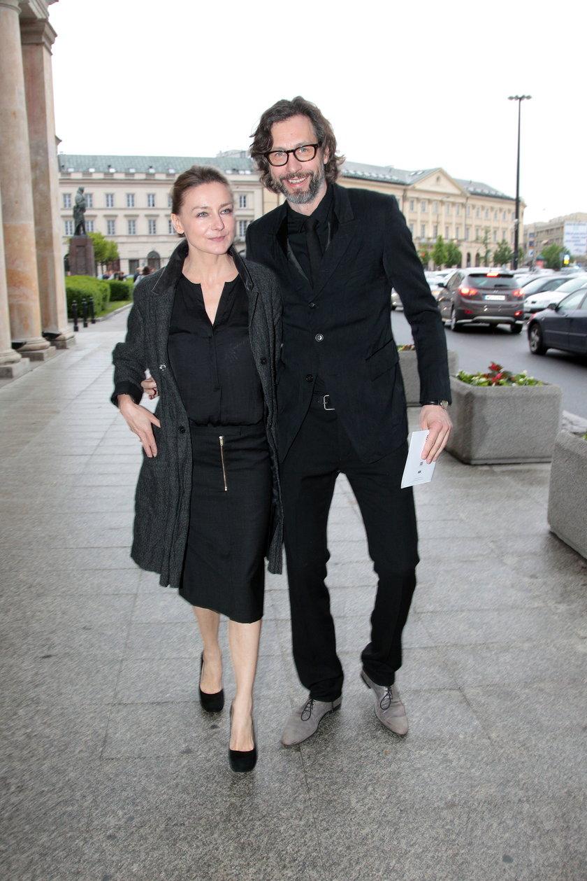 Film Powstanie Warszawskie premiera Szymon Majewski z żoną