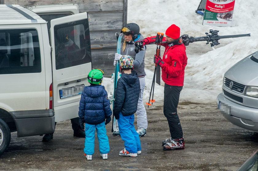 Kraśkowie na nartach