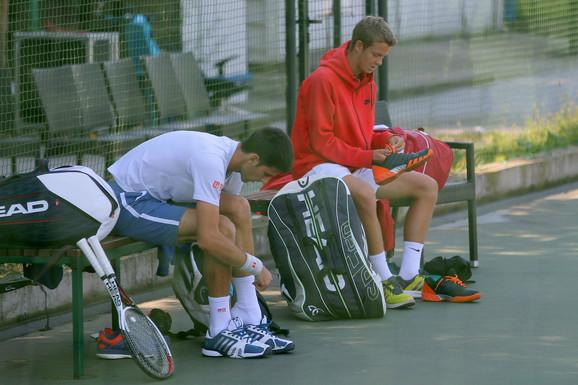 Novak Đoković i Boris Butulija