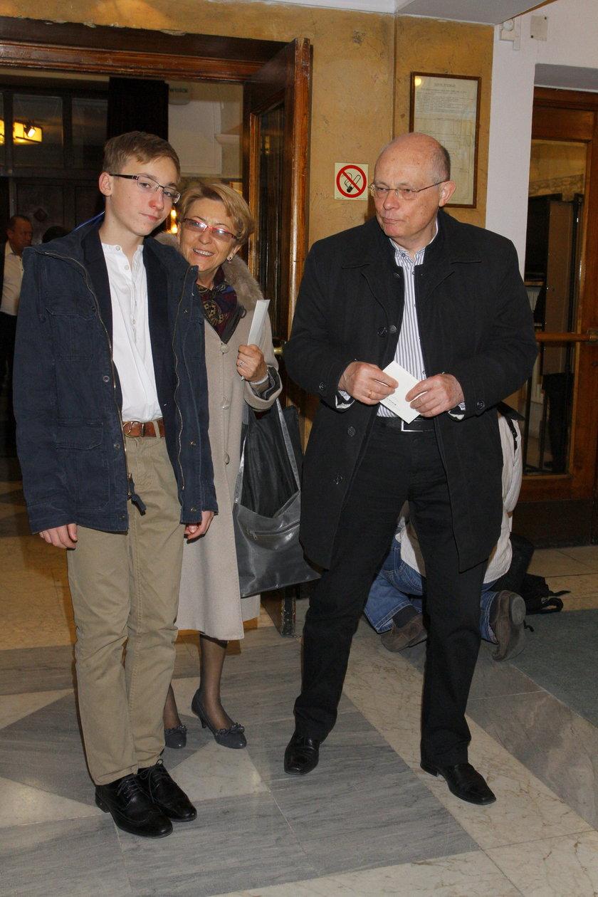 Marek Borowski z żoną