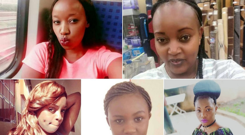 5 Young Kenyan ladies killed under controversial circumstances in 2018
