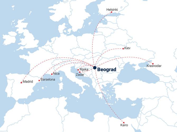 Er Srbija uvodi devet novih linija