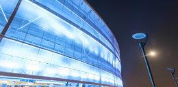 Stadion rozbłyśnie na niebiesko