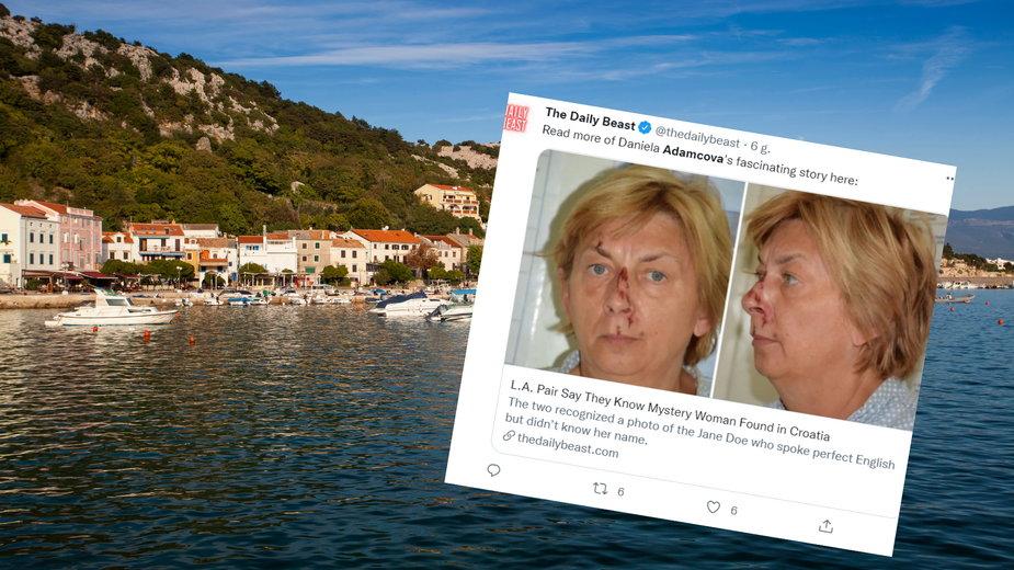 Tajemnicza kobieta odnaleziona w Chorwacji została zidentyfikowana (Twitter.com/@thedailybest)
