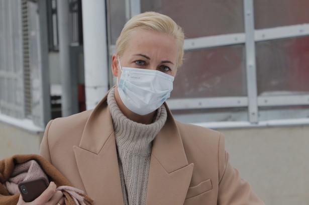 Julia Nawalna została zatrzymana w czasie demonstracji, której uczestnicy żądali uwolnienia jej męża z aresztu śledczego.