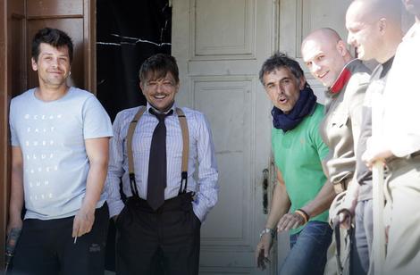 Dragan Bjelogrlić na snimanju Senki u Barandi