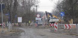 Korki na Swojczycach po zamknięciu ulicy