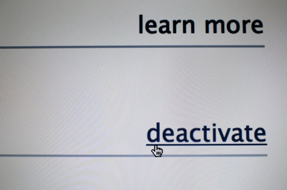 Deaktiviranjem se ne menja ništa