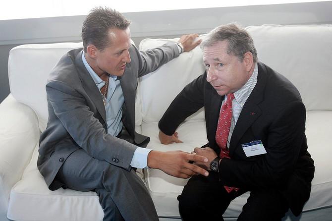Mihael Šumaher i Žan Tod 2009. u Italiji